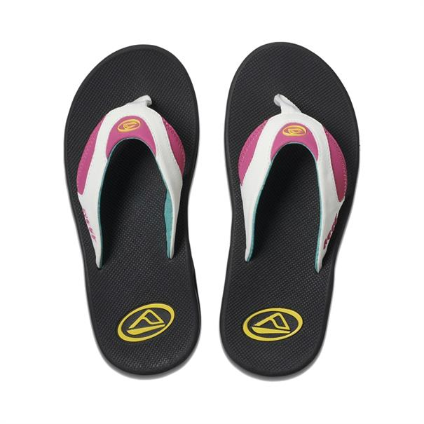 Reef Fanning dames slippers wit