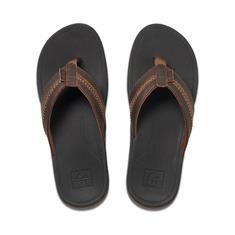Reef Leather Ortho Coast heren slippers zwart