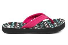 Reef Little Ahi meisjes sandalen zwart dessin