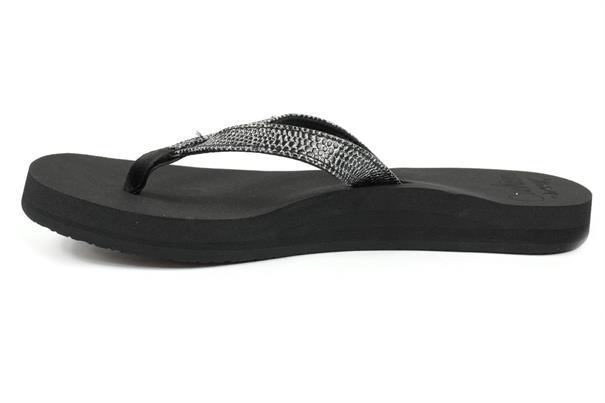 Reef Star Cushion Sassy dames slippers zwart dessin