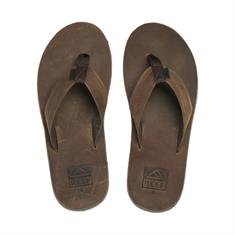 Reef Voyage Leather heren slippers lichtbruin