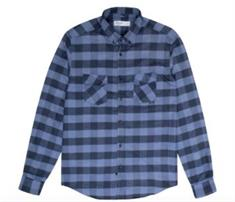 Reell Wood Shirt heren overhemd blauw