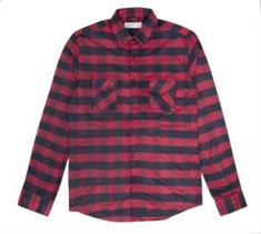 Reell Wood Shirt heren overhemd rood