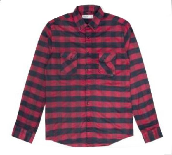 Heren Overhemd Rood.Reell Wood Shirt Heren Overhemd Rood Van T Shirts