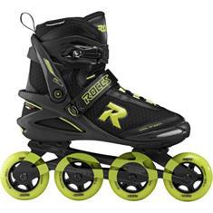 Roces Pic 80 Black Lime inline skates / skeelers zwart