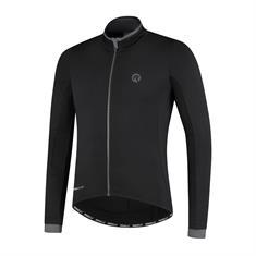 Rogelli Essential Jersey Long Sleeve +hele Rits heren hardloopshirt lange mouwen zwart