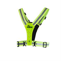 Rogelli Hardloop Vest + LED Verlichting reflectie geel
