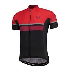 Rogelli Hero +Rood heren wielershirt zwart