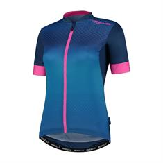 Rogelli Lux + Korte Mouw dames wielershirt blauw dessin