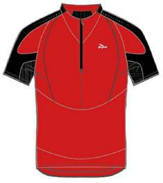 Rogelli Shirt korte mouw heren hardloopshirt rood