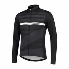Rogelli Stripe heren fiets shirt zwart