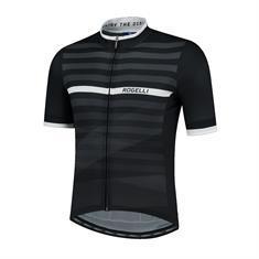 Rogelli Stripe Korte Mouw + Wit heren wielershirt zwart