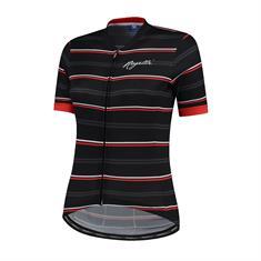 Rogelli Stripe + Korte Mouw dames wielershirt zwart