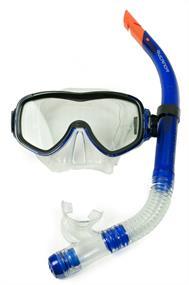 Rucanor Beste Koop Duikset snorkel en masker blauw