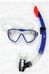Rucanor Egmond III snorkel en masker aqua-azur
