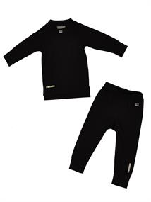 Rucanor Villers Shirt+Broek junior thermokleding set zwart