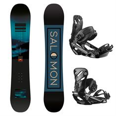 Salomon Beste Test Pulse Wide Set 413 388 incl. Binding heren snowboardset zwart