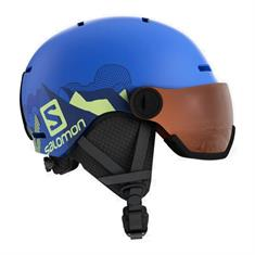 Salomon Grom Visor Blue 405 396 junior helm blauw
