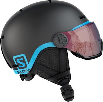 Salomon Grom Visor Junior helm ZWART