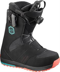 Salomon Ivy Boa 412 136 dames snowboardschoenen zwart