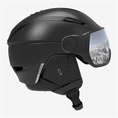 Salomon Pioneer Visor Black 408 356 skihelm sr zwart