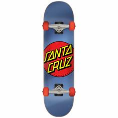Santa cruz Classic Dot 8.0 skateboard complete blauw