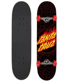 Santa cruz Flame Full Dot 8.0 skateboard complete zwart