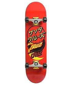 Santa cruz Group Dot Full 8.0 skateboard complete rood
