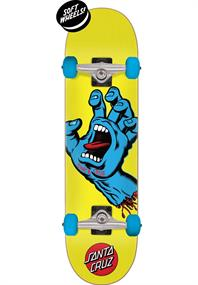 Santa cruz Screaming hand7.75 skateboard complete geel