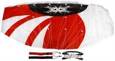 Schreuders Sport Parachute +lijnen matras vlieger rood dessin