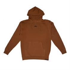 Script hoodie heren sweater donkerbruin