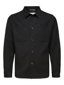 Selected Benjamin Hybrid BLZ heren overhemd zwart