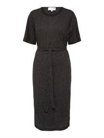 Selected SLFIVY 2/4 BEACH DRESS SOLID M dames jurk casual zwart
