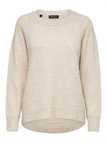 Selected SLFLULU LS KNIT O-NECK B NOOS dames sweater ecru