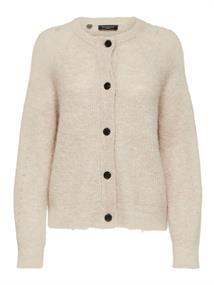 Selected SLFLULU LS KNIT SHORT CARDIGAN dames sweater ecru