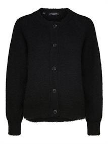 Selected SLFLULU LS KNIT SHORT CARDIGAN dames sweater zwart