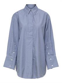 Selected SLFMIRABELLA LS LONG STRIPED SHIRT dames blouse denim