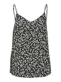 Selected SLFUMA AOP STRAP TOP M dames shirt zwart