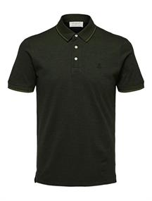 Selected SS Polo W heren polo donkergroen