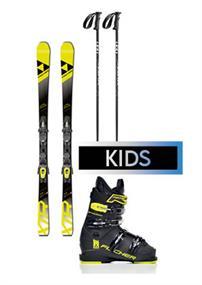 Ski verhuur kinder ski set huren wit