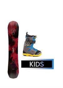 Snowboard Verhuur kinder snowboard set huren wit
