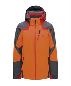Spyder Leader jongens ski/snowboard jas oranje