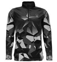 Spyder Limitless T-Neck junior ski pulli met rits donkergroen
