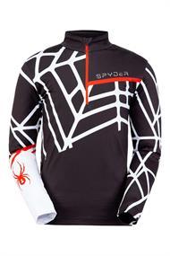 Spyder Vital Zip T-Neck heren ski pulli zwart