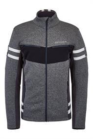 Spyder Wengen Encore Full Zip heren ski sweater antraciet
