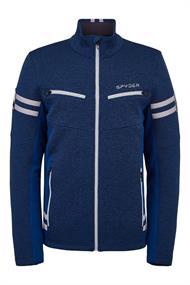 Spyder Wengen Encore Full Zip heren ski sweater marine
