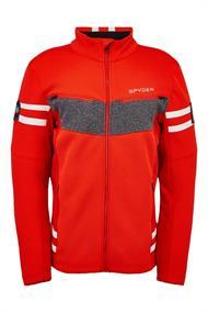 Spyder Wengen Encore Full Zip heren ski sweater rood