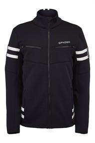 Spyder Wengen Encore Full Zip heren ski sweater zwart