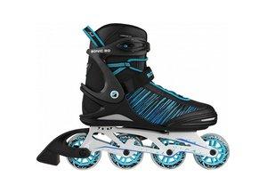 Stuf Sonic 80 Alu inline skates / skeelers zwart