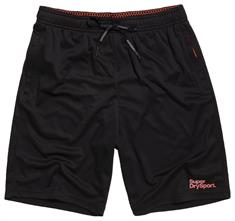 Super Dry Active Relaxed Short heren sportshort zwart